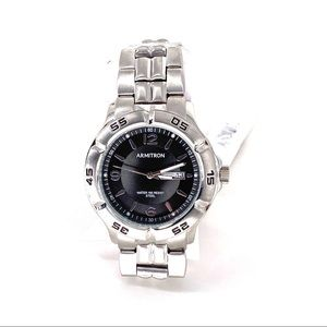 Armitron Men's Silver-Tone and Black Dress Watch